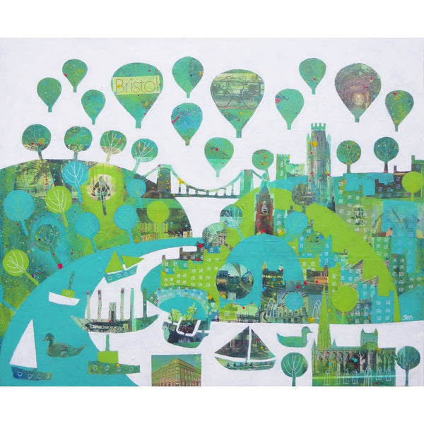 Bristol Green Capital #3 - Giclée Print by Jenny Urquhart | The Bristol Shop