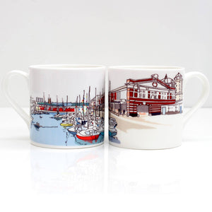 Bristol Harbourside Bone China Mug by Rolfe & Wills | The Bristol Shop