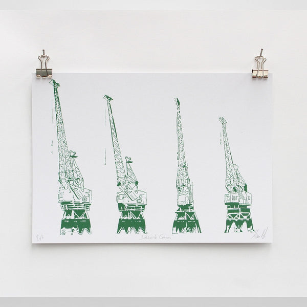 Bristol Harbourside Cranes Digital Art Print by Rolfe & Wills at The Bristol Shop