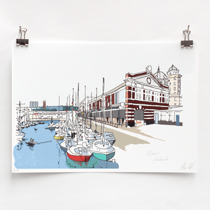 Bristol Harbourside Digital Art Print by Rolfe & Wills at The Bristol Shop