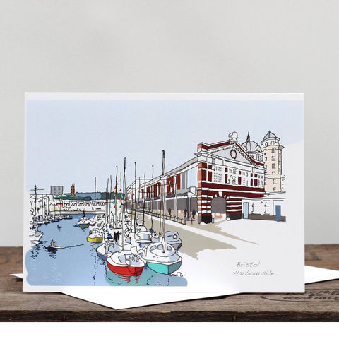 Bristol Harbourside Greetings Card by Rolfe & Wills | The Bristol Shop