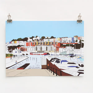 Bristol Marina Digital Art Print by Rolfe & Wills at The Bristol Shop