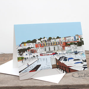 Bristol Marina Greetings Card by Rolfe & Wills at The Bristol Shop