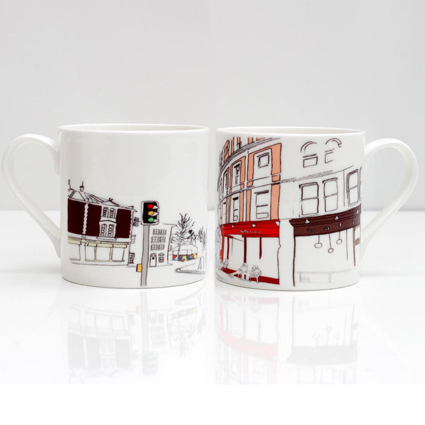 Stokes Croft Bristol Bone China Mug by Rolfe & Wills | The Bristol Shop