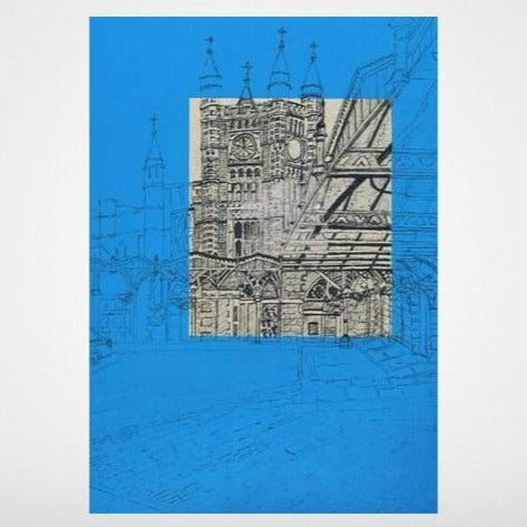 Bristol Temple Meads on Blue Art Print by Lisa Malyon at The Bristol Shop