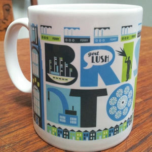 Bristol Typographic Mug Version 2 at The Bristol Shop