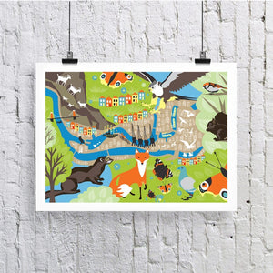Bristol Wildlife A3 Art Print by Susan Taylor Art | The Bristol Shop