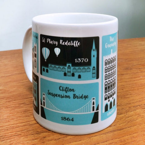 Bristol Places Mug by Susan Taylor Art | The Bristol Shop
