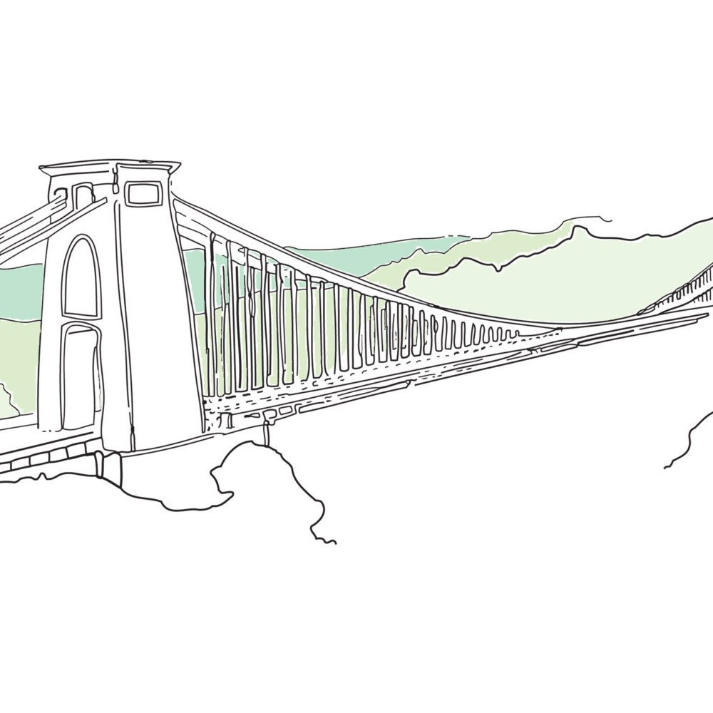 Clifton Suspension Bridge Art Print by Rolfe & Wills at The Bristol Shop