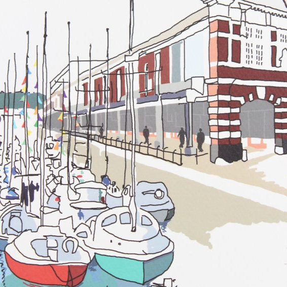 Bristol Harbourside Digital Art Print by Rolf & Wills on The Bristol Shop