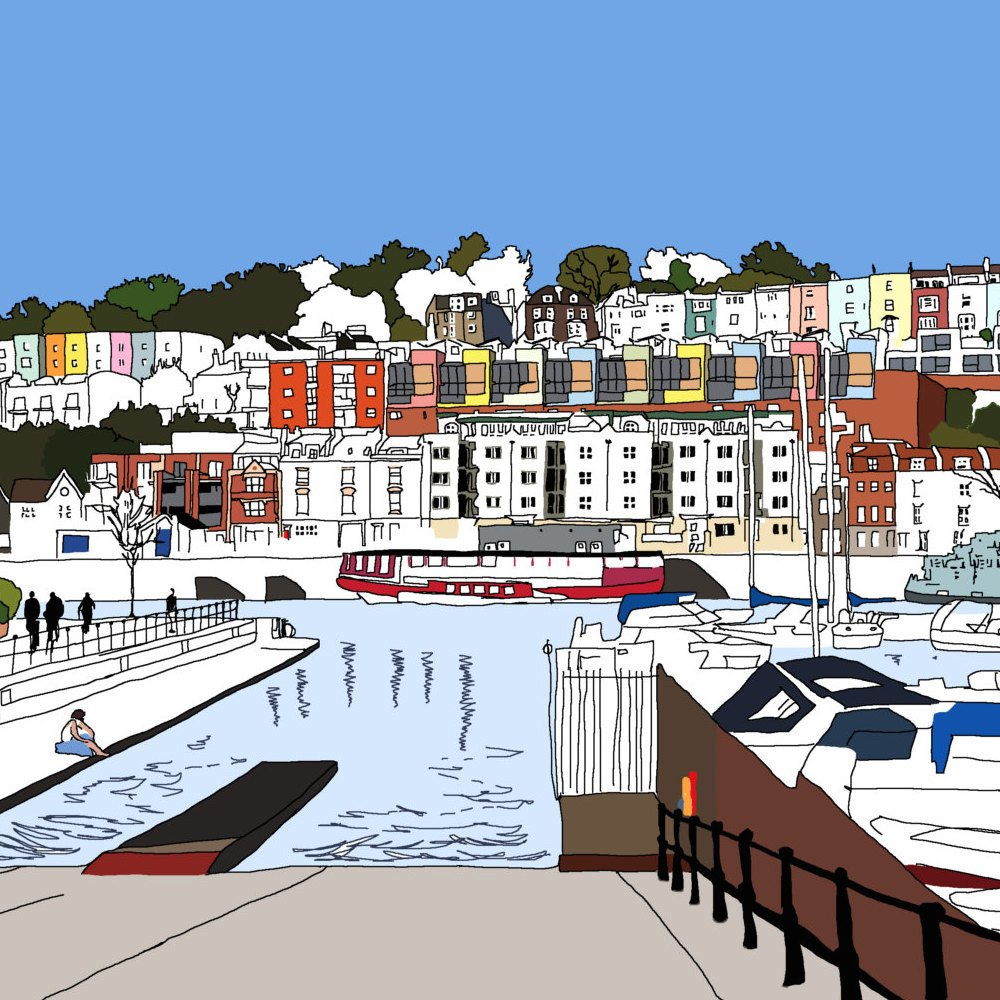 Bristol Marina Digital Art Print by Rolfe & Wills on The Bristol Shop £18.50