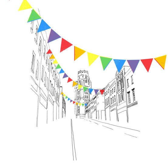 Bristol Park Street Digital Art Print by Rolfe & Wills on The Bristol Shop £18.50