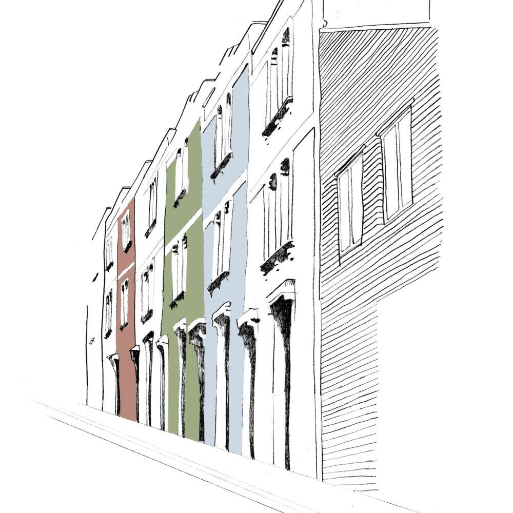 Bristol St Andrews Road Digital Art Print by Rolfe & Wills on The Bristol Shop