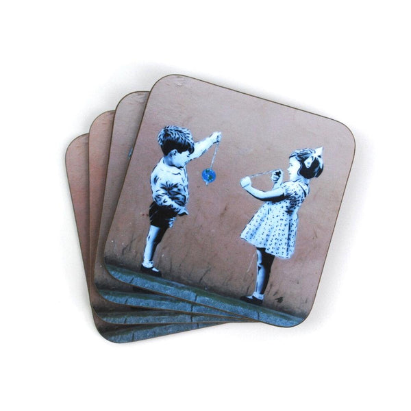 "JPS Street Art ""Conker The World"" Coaster by Eclectic Gift Shop"
