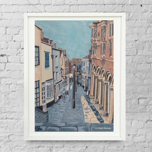 Christmas Steps Limited Edition Giclée Print by Susie Ramsay | The Bristol Shop