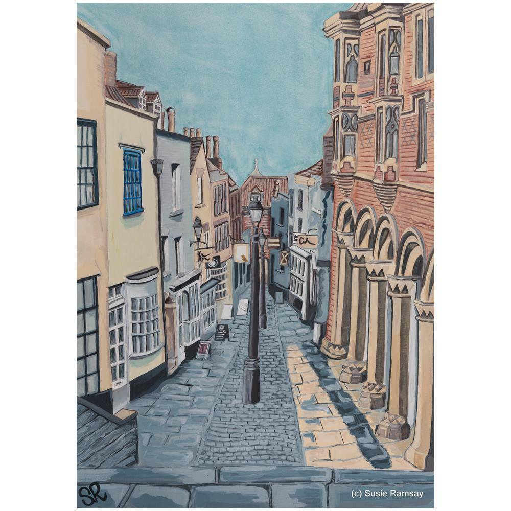 Christmas Steps Greetings Card by Susie Ramsay | The Bristol Shop