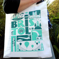 City of Bristol Typographic Tote Bag by Susan Taylor Art at The Bristol Shop