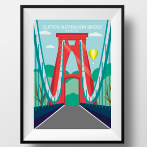 Clifton Suspension Bridge A4 or A3 Poster by Adriana Barrios | The Bristol Shop