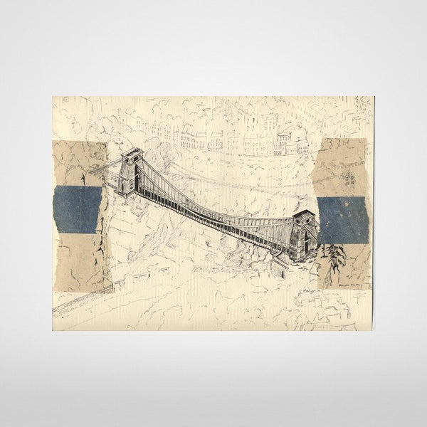 Clifton Suspension Bridge (Aerial View) Print by Lisa Malyon at The Bristol Shop