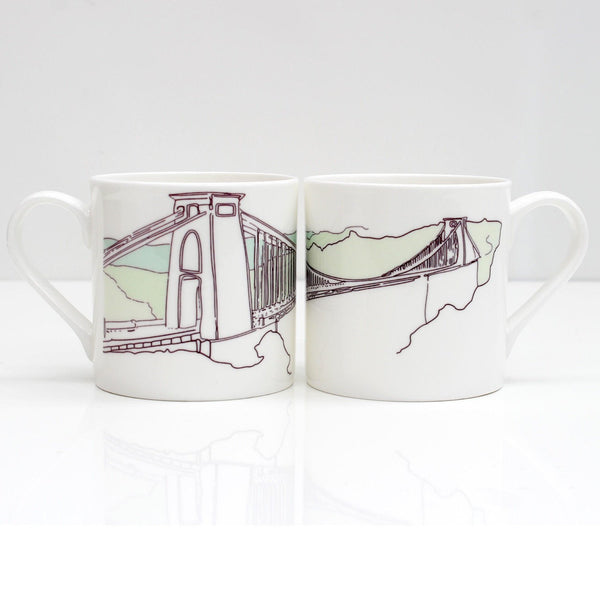 Clifton Suspension Bridge Bone China Mug by Rolfe & Wills | The Bristol Shop