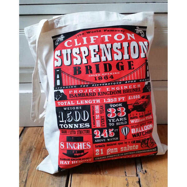 Clifton Suspension Bridge Facts Tote Bag by Susan Taylor Art | The Bristol Shop
