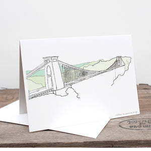 Clifton Suspension Bridge Greetings Card by Rolfe & Wills | The Bristol Shop