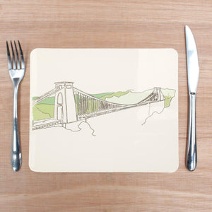 Clifton Suspension Bridge Placemat by Rolfe & Wills | The Bristol Shop