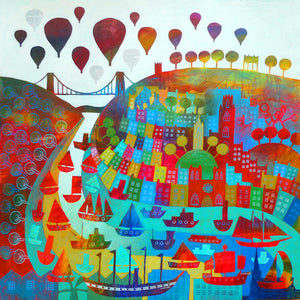 Clifton Collage #4 - Giclée Print by Jenny Urquhart at The Bristol Shop
