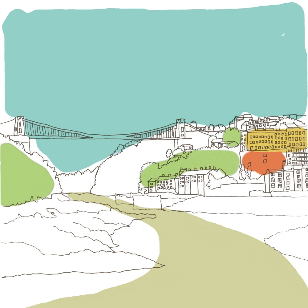 Clifton Suspension Bridge - Giclée Print by Jenny Urquhart at The Bristol Shop