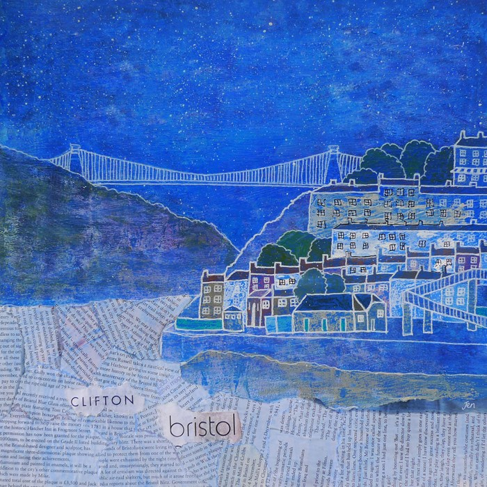 Clifton Collage - Giclée Print by Jenny Urquhart at The Bristol Shop