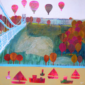 Clifton's Sion Hill - Giclée Print by Jenny Urquhart at The Bristol Shop
