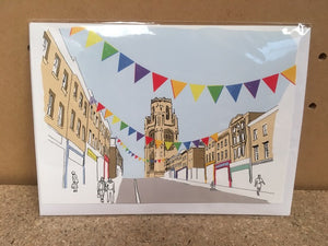Colourful Park Street Bristol Greetings Card by Rolfe & Wills | The Bristol Shop