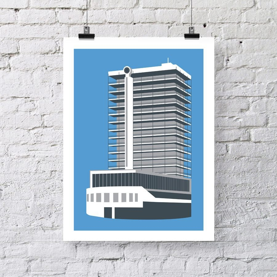 Colston Tower, Bristol Architectural Art Print by Susan Taylor Art | The Bristol Shop