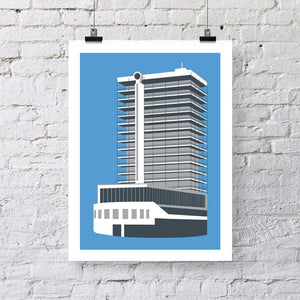 Tower (formerly Colston), Bristol Architectural Art Print by Susan Taylor Art | The Bristol Shop