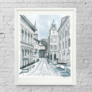 Corn Street Limited Edition Giclée Print by Susie Ramsay | The Bristol Shop