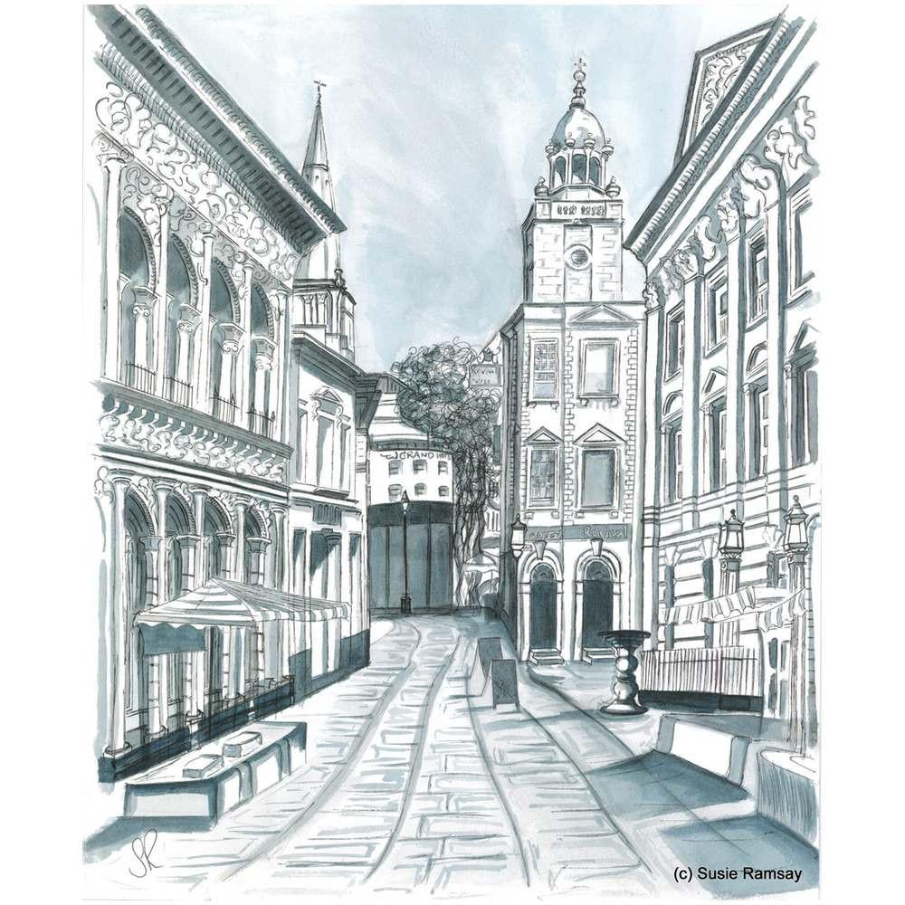 Corn Street Postcard by Susie Ramsay | The Bristol Shop