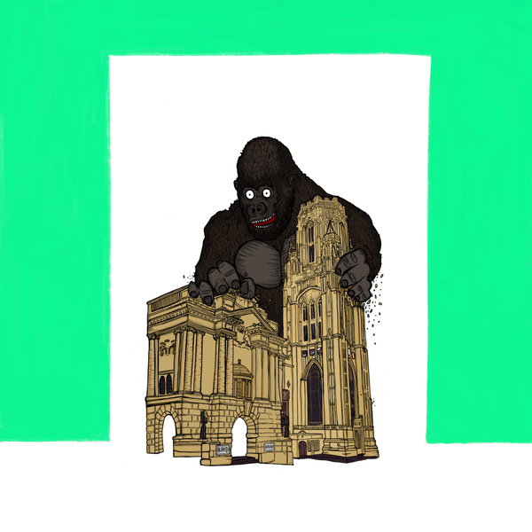Bristol Art Print, Alfred the Gorilla at Bristol Museum