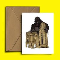Bristol Greetings Card, Alfred the Gorilla at Bristol Museum