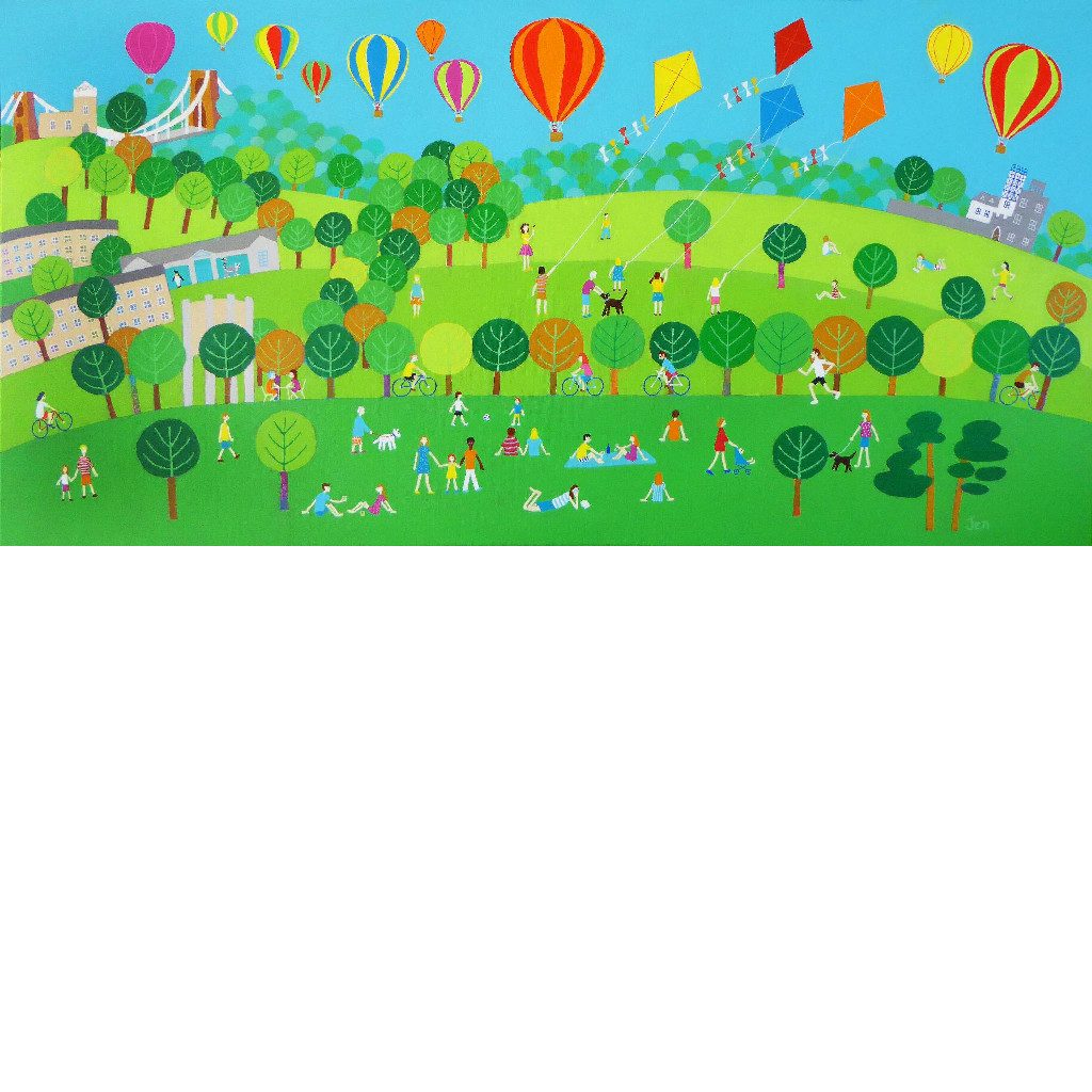 Summer on The Downs - Giclée Print by Jenny Urquhart | The Bristol Shop