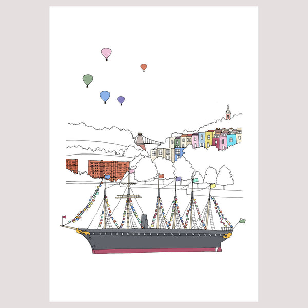 Bristol - the SS Great Britain Floats By - Giclée Print by Emily Ketteringham | The Bristol Shop