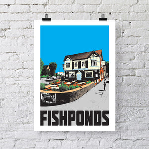Fishponds Bristol A4 or A3 Print by Susan Taylor | The Bristol Shop