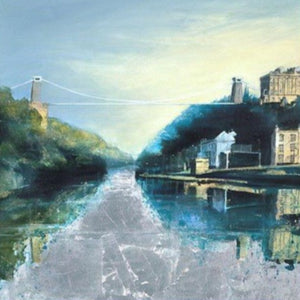 First Light on the Suspension Bridge - Giclée Print by Elaine Shaw | The Bristol Shop