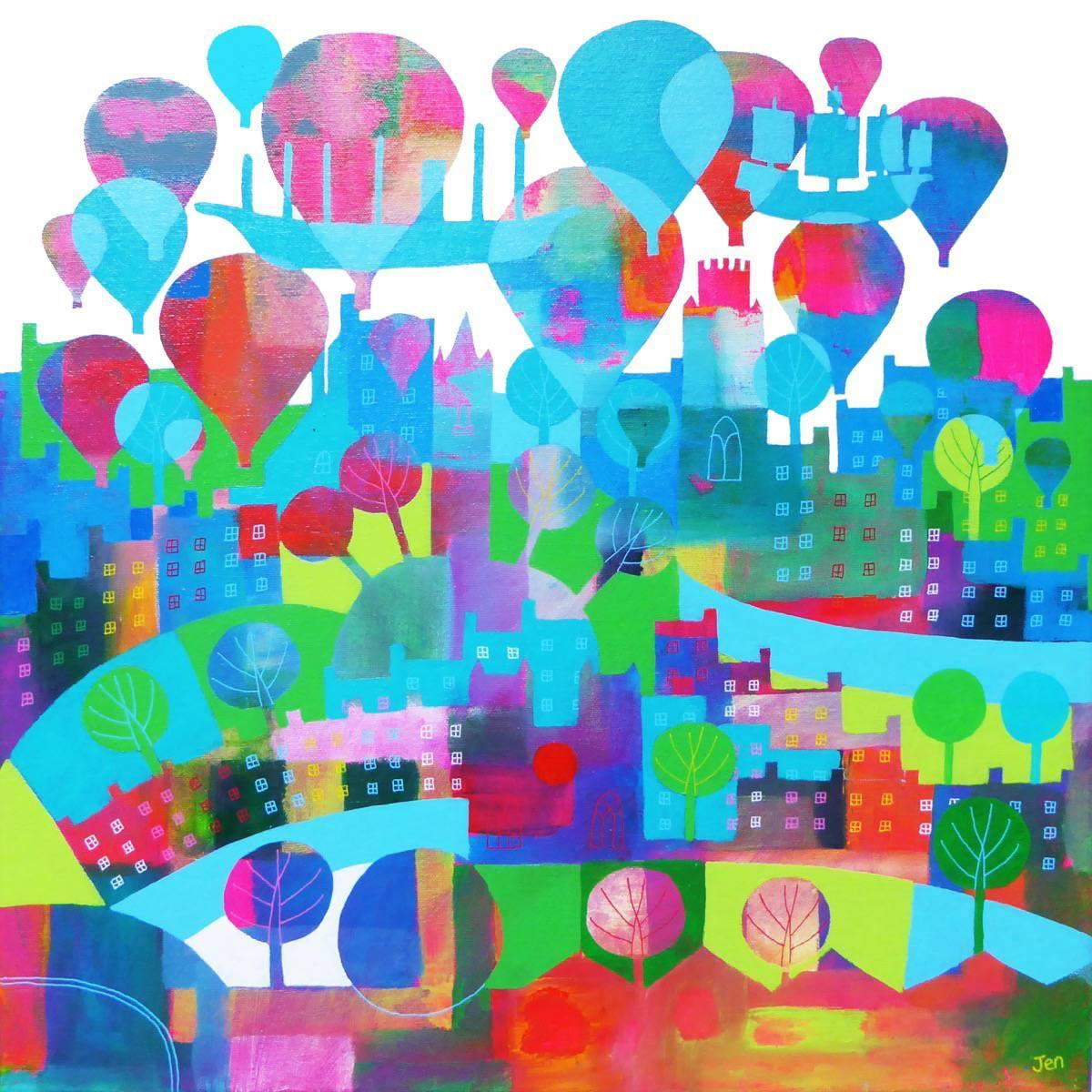 Floats The Boats - Giclée Print by Jenny Urquhart at The Shop