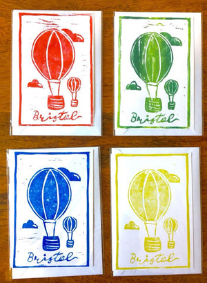 A6 Handmade Bristol Balloon Greetings Cards by Adriana Barrios | The Bristol Shop