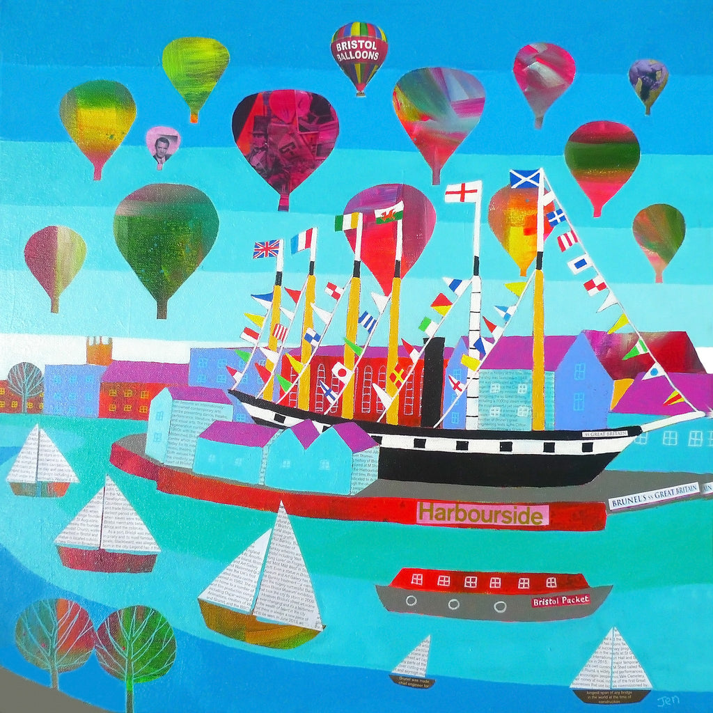 Bristol Harbourside - Giclée Art Print by Jenny Urquhart at The Bristol Shop