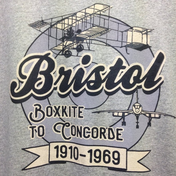 Boxkite to Concorde, Bristol Aviation History T-Shirt design by Beast Clothing