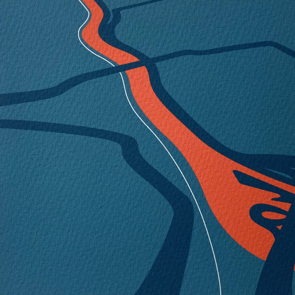 Avon Gorge Art by Anna Francis, contemporary map illustration