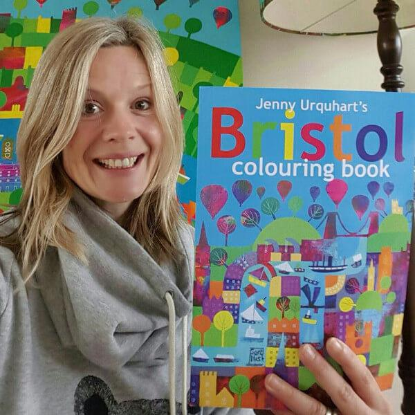 Bristol Colouring Book by Jenny Urquhart | The Bristol Shop