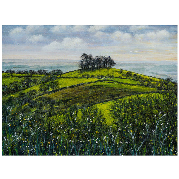 Kelston Roundhill Winter Art by Lynette Bower