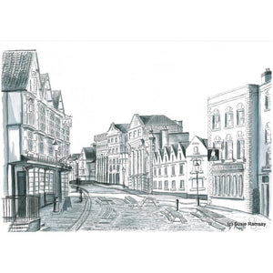 King Street Postcard by Susie Ramsay | The Bristol Shop